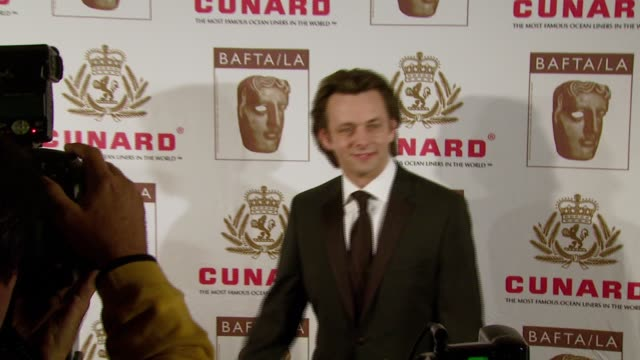 michael sheen at the 16th annual 2007 bafta/cunard britannia awards at the century plaza hotel in century city, california on november 1, 2007. - michael sheen bildbanksvideor och videomaterial från bakom kulisserna