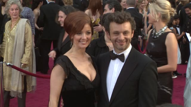 michael sheen at the 81st academy awards arrivals part 2 at los angeles ca. - michael sheen bildbanksvideor och videomaterial från bakom kulisserna