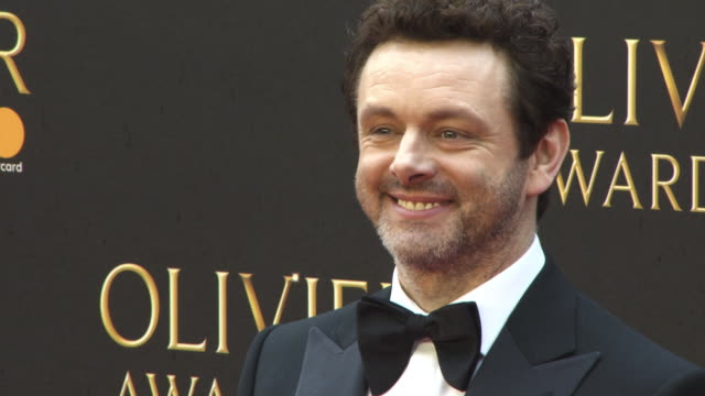 michael sheen at the olivier awards with mastercard at royal albert hall on april 08, 2018 in london, england. - michael sheen bildbanksvideor och videomaterial från bakom kulisserna