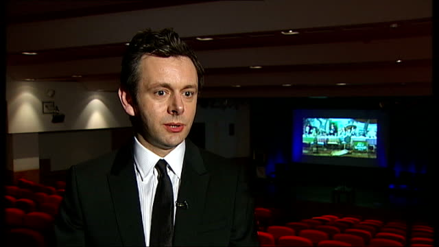 michael sheen chatting to christopher lee sheen interview sot - should be seen in a cinema of course. seems to be an argument about money. people... - christopher lee actor stock videos & royalty-free footage