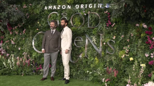 michael sheen, david tennant at odeon luxe leicester square on may 28, 2019 in london, england. - michael sheen bildbanksvideor och videomaterial från bakom kulisserna