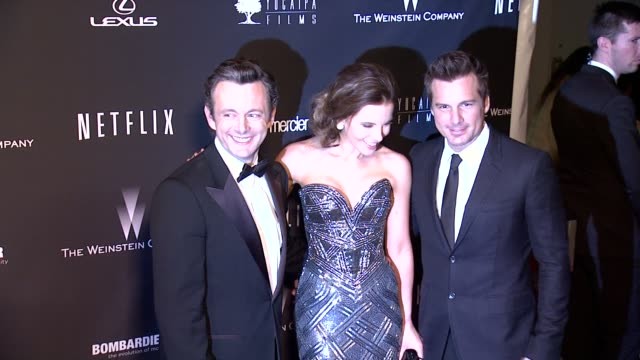michael sheen, kate beckinsale, len wiseman at the weinstein company & netflix 2014 golden globes after party at the beverly hilton hotel on in... - michael sheen bildbanksvideor och videomaterial från bakom kulisserna