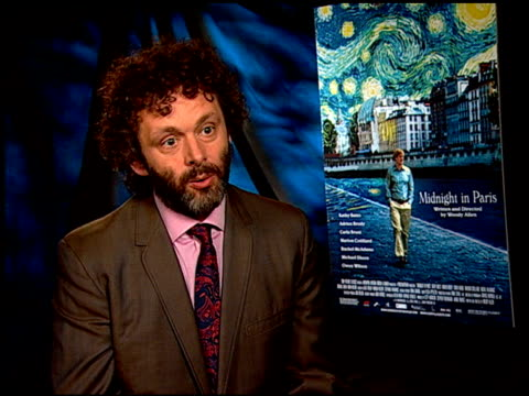 michael sheen on how much woody allen helped him develop his character at the 'midnight in paris' junket at los angeles ca - woody allen stock videos & royalty-free footage