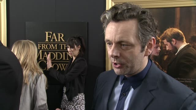 "michael sheen on the film's story, working with such a talented cast and crew, and what he thinks people will take from it at ""far from the madding... - michael sheen bildbanksvideor och videomaterial från bakom kulisserna"