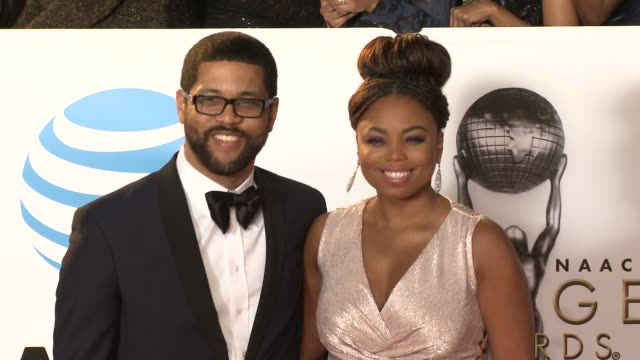 michael smith and jemele hill at the 49th naacp image awards at pasadena civic auditorium on january 15, 2018 in pasadena, california. - pasadena civic auditorium stock videos & royalty-free footage