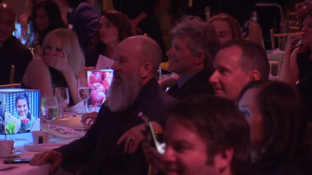 Michael Stipe and Jon Bon Jovi at CanDo Awards Dinner Hosted by Food Bank For New York at Cipriani Wall Street on April 20 2016 in New York City