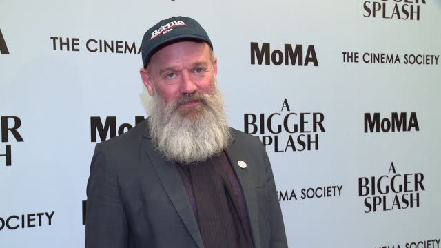 michael stipe at a bigger splash new york screening presented by fox searchlight at moma titus one on april 21 2016 in new york city - michael stipe stock videos & royalty-free footage