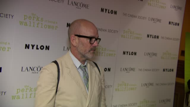 Michael Stipe at The Cinema Society With Lancome Nylon Host A Screening Of The Perks Of Being A Wallflower at Crosby Street Hotel on September 13...