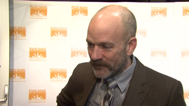 michael stipe at the food bank for new york city's 6th annual cando awards dinner at new york ny - michael stipe stock videos & royalty-free footage