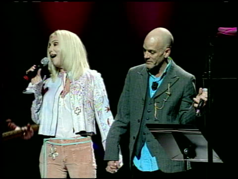 michael stipe at the love rocks at the kodak theatre in hollywood california on february 14 2002 - michael stipe stock videos & royalty-free footage