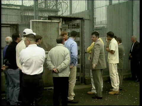 michael stone freed northern ireland belfast/ maze prison ext/itn gvs supporters to prison gates/ bv supporters of michael stone waiting for his... - prison release stock videos & royalty-free footage