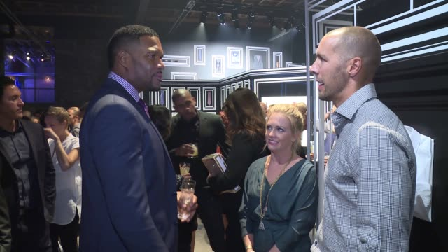 Michael Strahan and Melissa Joan Hart at JCPenney And Michael Strahan Launch Collection By Michael Strahan at ArtBeam on September 30 2015 in New...