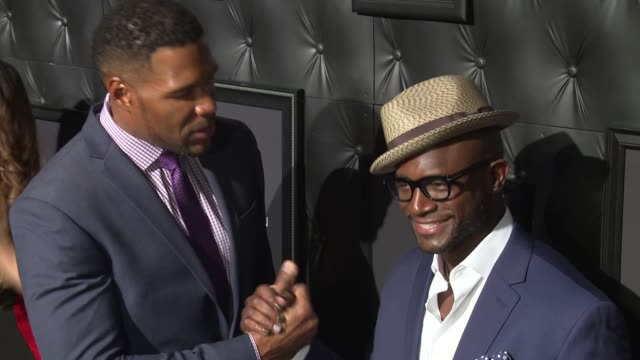 Michael Strahan and Taye Diggs at JCPenney And Michael Strahan Launch Collection By Michael Strahan at ArtBeam on September 30 2015 in New York City
