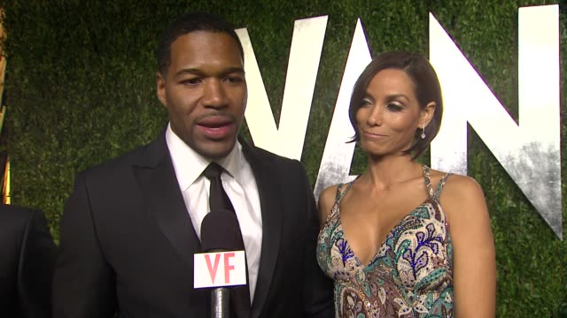 INTERVIEW Michael Strahan at The 2013 Vanity Fair Oscar Party Hosted By Graydon Carter INTERVIEW Michael Strahan at The 2013 Vanity at Sunset Tower...