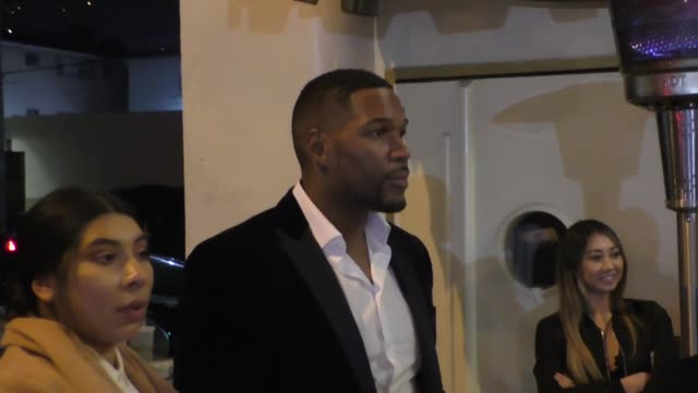 INTERVIEW Michael Strahan talks about the NFL Draft outside Delilah Nightclub in West Hollywood in Celebrity Sightings in Los Angeles