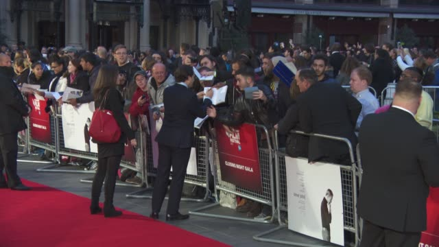 michael stuhlbarg at 'steve jobs' closing night gala bfi london film festival at odeon leicester square on october 18 2015 in london england - odeon leicester square stock videos and b-roll footage