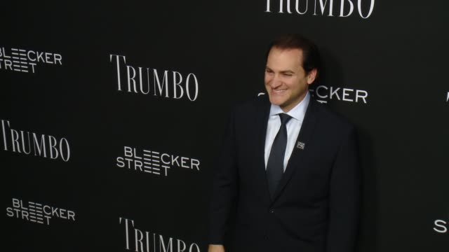 michael stuhlbarg at the trumbo los angeles premiere at the academy of motion picture arts and sciences on october 27 2015 in beverly hills california - academy of motion picture arts and sciences stock-videos und b-roll-filmmaterial