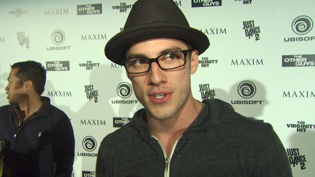 Michael Trevino on what brings him out tonight at the Maxim Ubisoft And Sony Pictures Celebrate The Cast Of 'The Other Guys' at San Diego CA