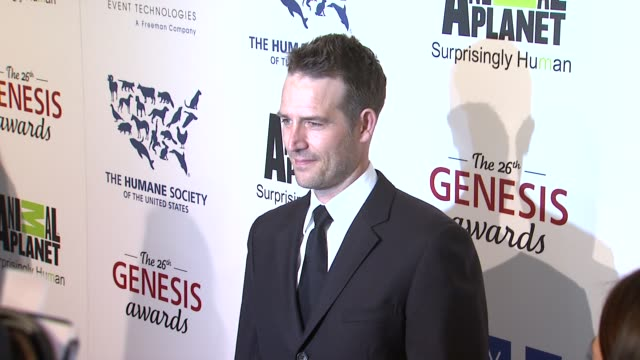 michael vartan at the 26th annual genesis awards presented by the humane society of the united states on 3/24/12 in los angeles ca - michael vartan stock videos & royalty-free footage