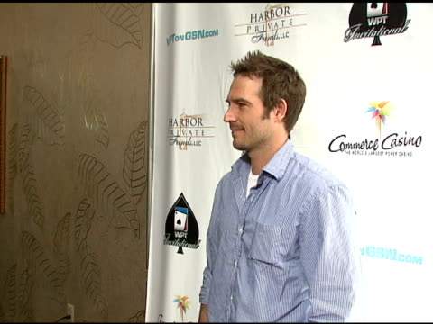 michael vartan at the 6th annual world poker tour at the commerce casino in los angeles california on march 2 2008 - michael vartan stock videos & royalty-free footage