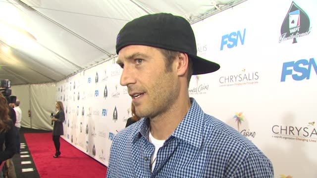 michael vartan on being a part of the night his strategy how long he's been playing poker what he's hoping to pick up from the professionals at the... - michael vartan stock videos & royalty-free footage