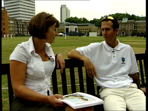 michael vaughan interviewed about image change sot more people we can get involved better for game more young players will emulate / talks about... - channel 4 news stock-videos und b-roll-filmmaterial