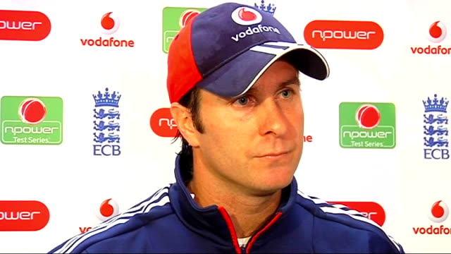 Michael Vaughan press conference Vaughan press conference SOT Spirit of game is important but it's a keenly fought contest / Pietersen's first test...