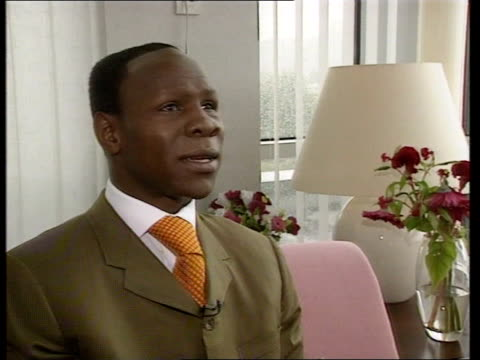 michael watson wins compensation case; ???: int chris eubanks interview sot - i thought i was to blame but it was an accident - chris eubank sr. stock videos & royalty-free footage