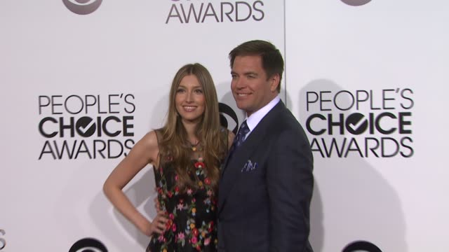 michael weatherly at 40th annual people's choice awards - arrivals at nokia theatre l.a. live on in los angeles, california. - people's choice awards stock videos & royalty-free footage