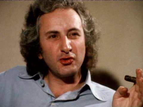 michael winner discusses film censorship in great britain amid furor surrounding film 'last tango in paris 1974 - マイケル ウィナー点の映像素材/bロール