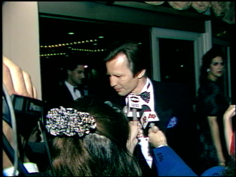 michael york at the afi awards honoring gregory peck at the beverly hilton in beverly hills california on march 9 1989 - gregory peck stock videos and b-roll footage