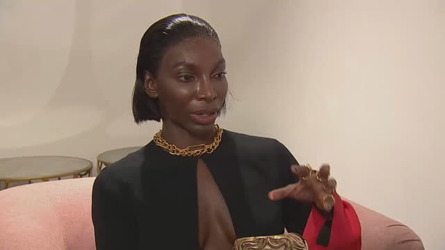"""michaela coel saying writing her bafta award-winning show 'i may destroy you' allowed her to pair her own tragic experience """"with something quite... - writing stock videos & royalty-free footage"""