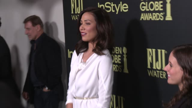 vídeos de stock e filmes b-roll de michaela conlin at the hollywood foreign press association and instyle celebrate the 2016 golden globe award season at ysabel on november 17 2015 in... - prémio globo de ouro