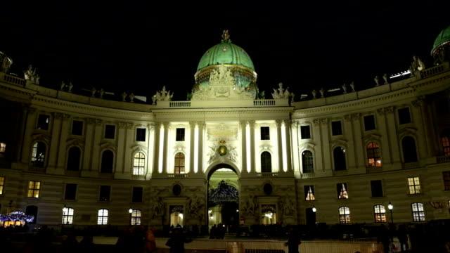michaelerplatz vienna - the hofburg complex stock videos & royalty-free footage