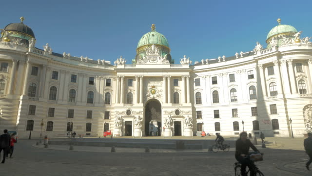 michaelerplatz wide shot. - vienna austria stock videos & royalty-free footage