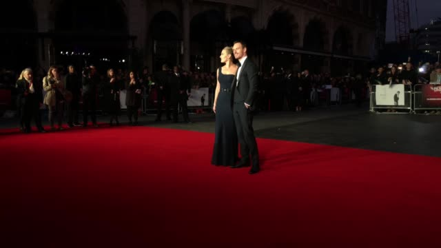 micheal fassbender, kate winslett at 'steve jobs' - closing night gala - bfi london film festival at odeon leicester square on october 18, 2015 in... - leicester square stock videos & royalty-free footage