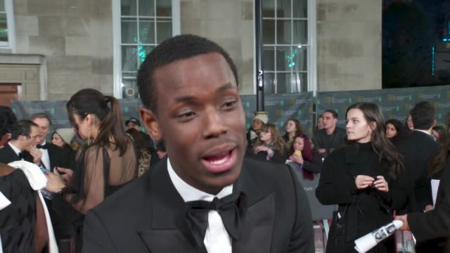 interview micheal ward actor on being a bafta rising star nominee and on improving diversity in the film industry at the ee british academy film... - british academy film awards stock videos & royalty-free footage