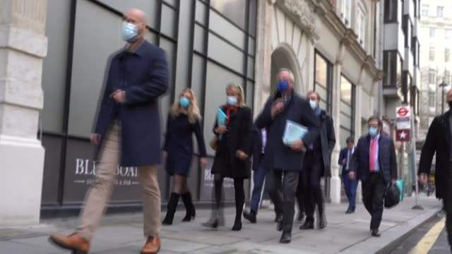 michel barnier arrives for what was scheduled to be the final day of the latest phase of london brexit talks, which according to a report in the... - thursday stock videos & royalty-free footage