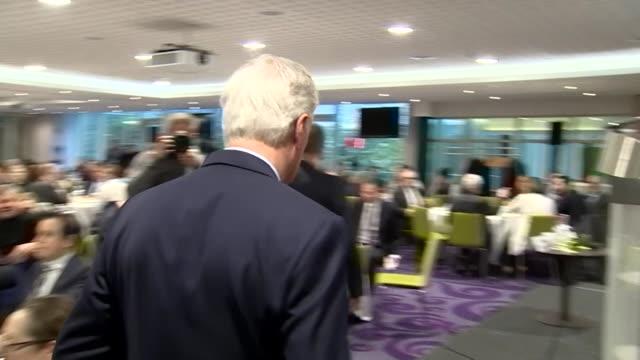 Michel Barnier attending a meeting in Brussels
