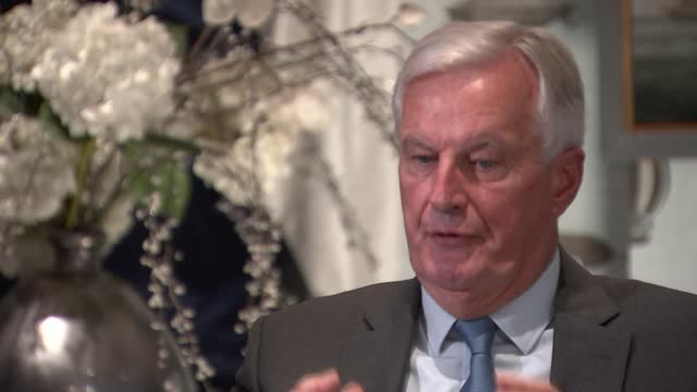 michel barnier interview; england: london: marylebone: int michel barnier interview sot q: what's you feeling towards britain and britons after last... - respect stock videos & royalty-free footage