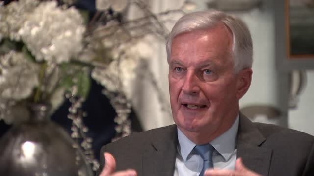 michel barnier interview; england: london: marylebone: int michel barnier interview sot q: on barnier's admiration for ireland and his view of... - respect stock videos & royalty-free footage