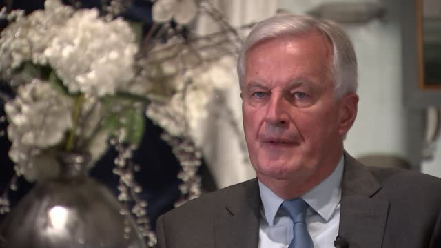 michel barnier interview; england: london: marylebone: int michel barnier interview sot q: on brexit being a reason for shortages - nobody can be... - simplicity stock videos & royalty-free footage