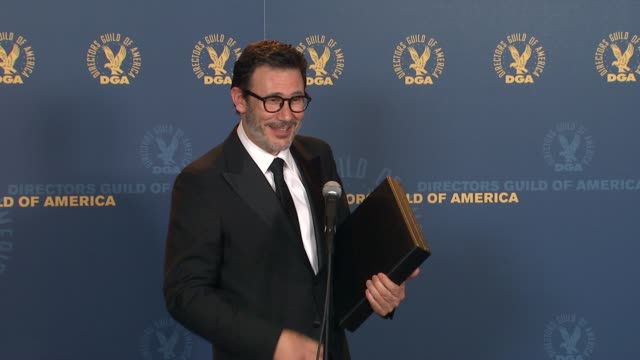 Michel Hazanavicius at 64th Annual DGA Awards Press Room on 1/28/12 in Los Angeles CA