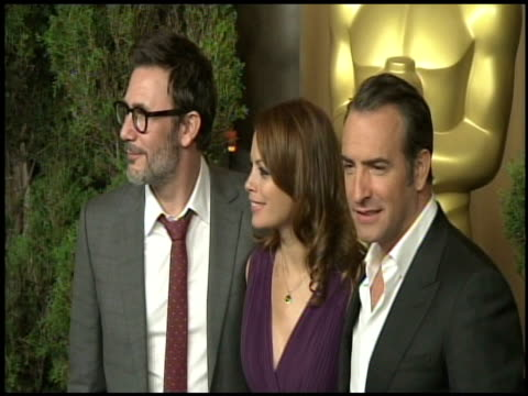 Michel Hazanavicius Berenice Bejo and Jean Dujardin at the 84th Academy Awards Nominations Luncheon in Beverly Hills CA on 2/6/12