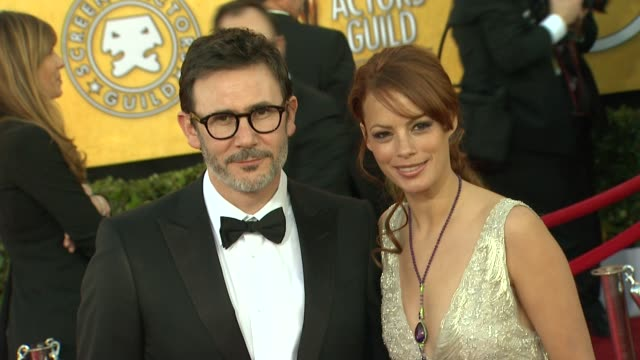 Michel Hazanavicius Berenice Bejo at 18th Annual Screen Actors Guild Awards Arrivals on 1/29/12 in Los Angeles CA