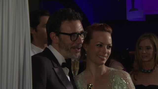 Michel Hazanavicius Berenice Bejo at 2012 Governors Ball on 2/26/12 in Hollywood CA