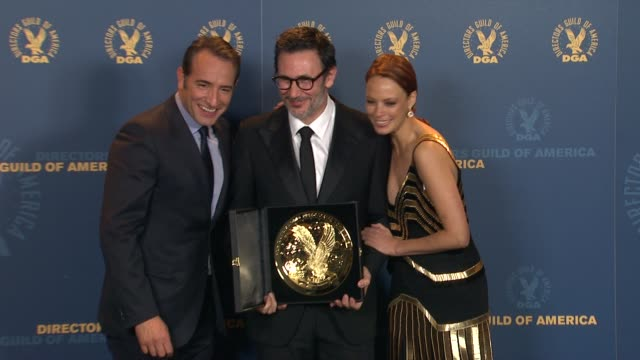 Michel Hazanavicius Berenice Bejo at 64th Annual DGA Awards Press Room on 1/28/12 in Los Angeles CA