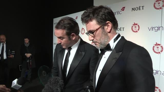 Michel Hazanavicius Jean Dujardinat on where they will put the awards