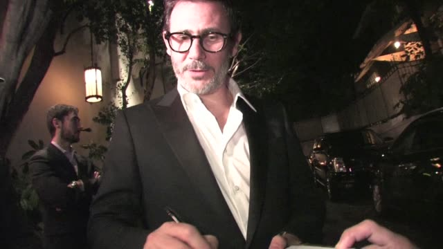 Michel Hazanavicius meets fans at Chateau Marmont in West Hollywood 01/29/12 in Celebrity Sightings in Los Angeles