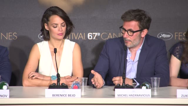 Michel Hazanavicius on his inspiration and remaking the original at 'The Search' Press Conference at Palais des Festivals on May 21 2014 in Cannes...